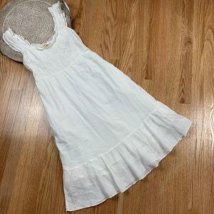 Anthropologie White Ruffle Knit Maxi Sundress 27